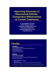 Improving Outcomes in Rheumatoid Arthritis - Pharmacy Times