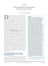 Optimizing diabetes management: managed care ... - Pharmacy Times