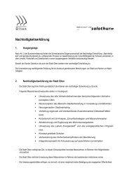 Olten - Lokalen Agenda 21 Kanton Solothurn