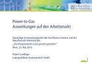 Power-to-Gas - Auswirkungen auf den Arbeitsmarkt - Renner Institut