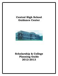 Central High School Guidance Center Scholarship & College ...