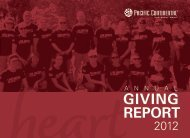 Annual Giving Report 2012 - Pacific Continental Bank