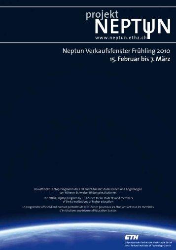 Neptun Verkaufsfenster Frühling 2010 15. Februar bis ... - ETH Zürich