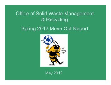 2012 Move Out Report - Office of Solid Waste Management ...