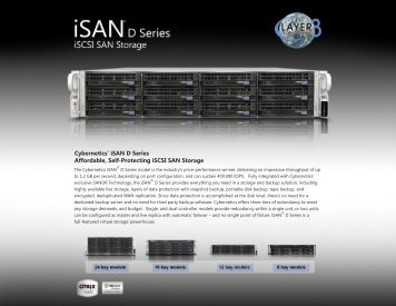 Download iSAN® D Series Specifications - Layer 3 Technologies