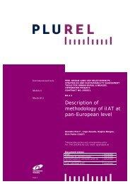 Pan-European integrated Impact Assessment Tool - Plurel