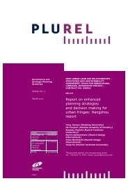 Report on enhanced planning strategies and decision ... - Plurel
