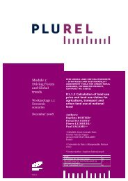 Claims for agriculture, transport and urban land use - Plurel