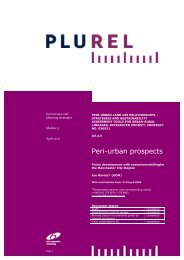 Reports on enhanced planning strategies and decision ... - Plurel