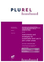 Instruments and strategies for sustainable land use in peri ... - Plurel