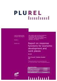 Response functions for economic development and work ... - Plurel