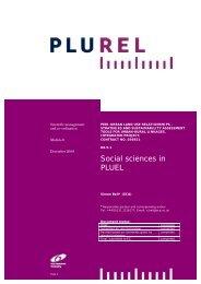 Social sciences in PLUEL - Plurel