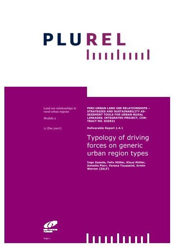Typology of driving forces on generic - Plurel
