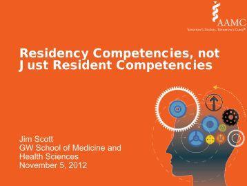 Residency Competencies, not Just Resident Competencies - AAMC