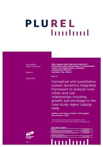 System dynamics model to analyse rural-urban land use ... - Plurel