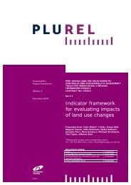 Indicator framework for evaluating impacts of land use ... - Plurel