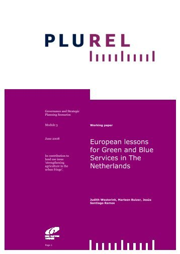 DOWNLOAD working paper on green and blue services - Plurel