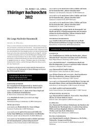 Die Lange Nacht der Hausmusik - Thüringer Bachwochen