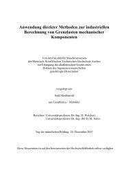 Anwendung direkter Methoden zur industriellen Berechnung von ...