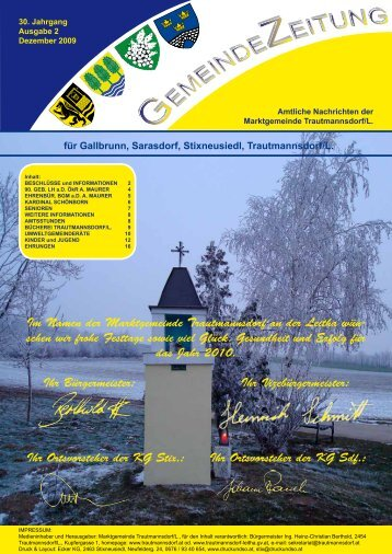 Ausgabe Dezember 2009 - Trautmannsdorf an der Leitha