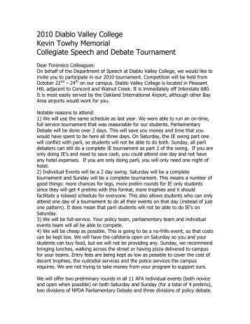 Kevin Towhy Memorial Collegiate Speech and Debate Tournament