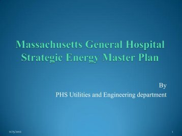 Partners HealthCare System Strategic Energy Master Plan