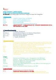 Anlage Terminplan 1. Halbjahr 2012-13 Projekte - Deutsche Schule ...