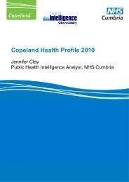 Copeland Health Profile 2010 - Cumbria County Council