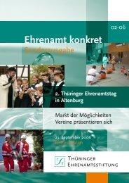 Ehrenamt konkret - Thüringer Ehrenamtsstiftung