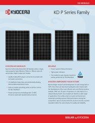 KD P Series Family - KYOCERA Solar