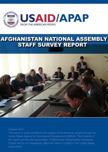 Afghanistan Parliamentary Staff Survey Report (PDF) - Center for ...