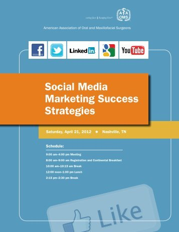 Social Media Marketing Success Strategies - American Association ...