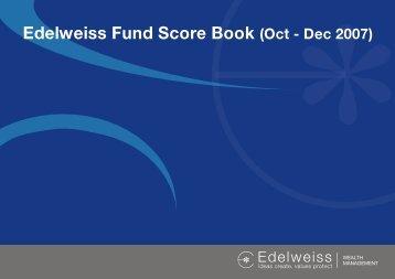 Edelweiss Fund Score Book (Oct - Dec 2007)