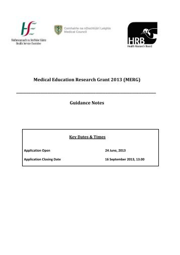 Guidance Notes - Health Research Board