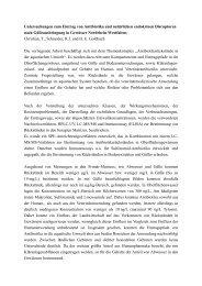 Untersuchungen zum Eintrag von Antibiotika und natürlichen ...