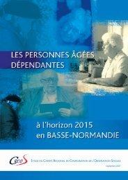 Les personnes âgées dépendantes - DREAL Basse-Normandie