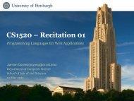 CS1520 – Recitation 01 - Department of Computer Science ...