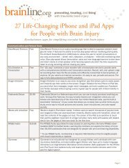 27 Life-Changing iPhone and iPad Apps for People ... - BrainLine.org