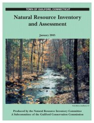 Natural Resource Inventory and Assessment - Town of Guilford