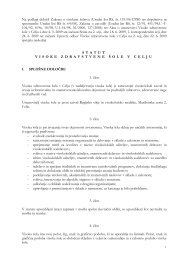 Na podlagi določil Zakona o visokem šolstvu (Uradni list RS, št. 119 ...