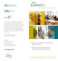 We are your expert partners for - TIB