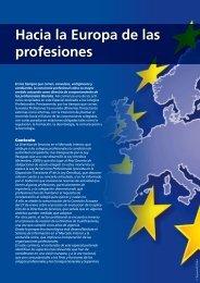 Hacia la Europa de las profesiones - Revista Profesiones
