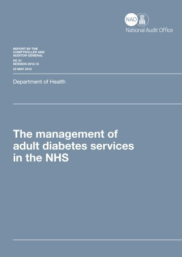 The management of adult diabetes services in the NHS
