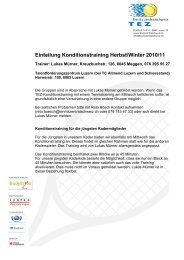 Einteilung Konditionstraining Herbst/Winter 2010/11 - Tennis ...