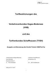Tarifbestimmungen des - VHB