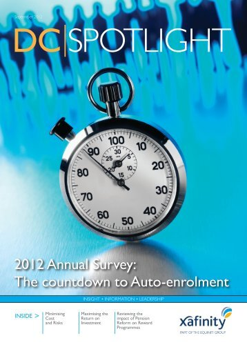 2012 Annual Survey: The countdown to Auto-enrolment - Xafinity