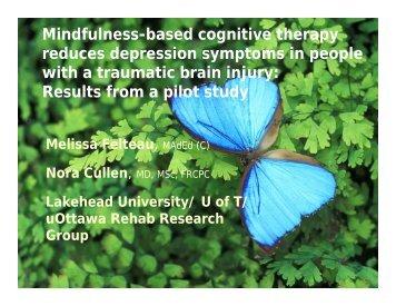 View presentation - GTA Rehabilitation Network