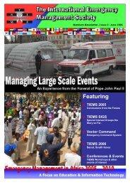 Message - The International Emergency Management Society