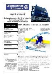 Feier am 18. Mai 2003! - THW OV Bad Homburg / Oberursel