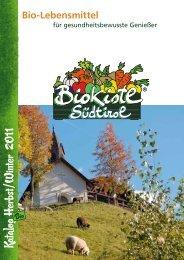 Katalog H erbst /W inter - Bio Kistl Südtirol